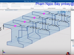 Video AllPlan Bridge 2020-Model beam T Bridge- mô hình dầm cầu T24